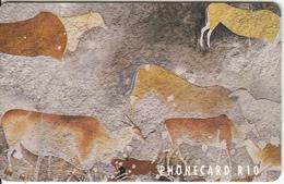 SOUTH AFRICA(chip) - Prehistoric Bushman Wall Paintings(puzzle 2/4), Telkom Telecard, CN : TNAB, Chip Sie37, Used