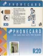 SOUTH AFRICA(chip) - Blue Card, CN : TGAB(normal 0), Telkom Telecard R20, Used