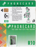 SOUTH AFRICA(chip) - Green Card, CN : TGAA(large Thin, 0 With Barred), Telkom Telecard R10, Used