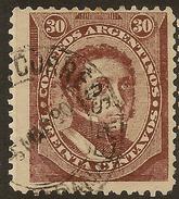 ARGENTINA 1888 30c Brown SG 119 U #ZV151 - Argentina