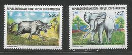 1991 Cameroun Cameroon Elephant Water Buffalo  Complete Set Of 2 MNH - Kameroen (1960-...)