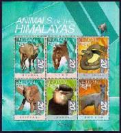 MINT NEVER HINGED MINI SHEET OF WILDLIFE & ANIMALS   # M-0139-2  ( BHUTAN   1276* - Postzegels