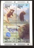MINT NEVER HINGED MINI SHEET OF PROTECTED WILDLIFE & ANIMALS  ( BHUTAN   1058 - Postzegels