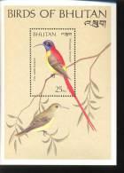 MINT NEVER HINGED SOUVENIR SHEET OF BIRDS      (  BHUTAN   790 - Vögel