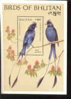 MINT NEVER HINGED SOUVENIR SHEET OF BIRDS      (  BHUTAN   789 - Vögel