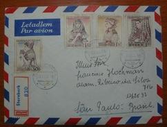Letter - Cover - Sobre De Checoslovaquia 1956 - Enviada A Brazil