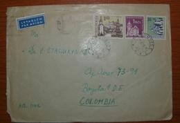 Letter - Cover - Sobre De Checoslovaquia 1956 - Enviada A Colombia