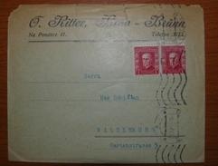 Letter - Cover - Sobre De Checoslovaquia 1922
