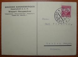 Letter - Cover - Tarjeta Postal De Checoslovaquia 1936