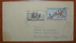 Letter - Cover - Sobre De Checoslovaquia - Juegos Olimpicos - Auto Antiguo - Tschechoslowakei/CSSR