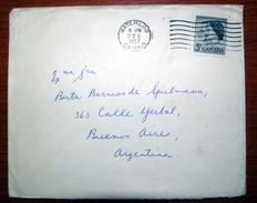 Letter - Cover - Sobre De Canada 1957