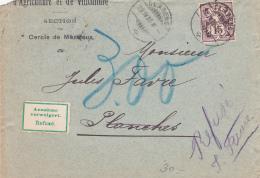 No 85 Sut Lettre Du Cercle D' Agriculture Et De Viticulture De Montreux, Obl. Clarens Le 29.IX.06 - Mention Refusé - Lettres & Documents