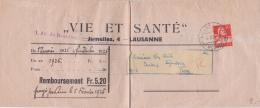 Bande De Journal Vie Et Santé Oblitérée Le 4.II.25 - Collections