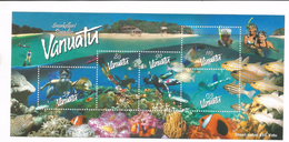 2003 Vanuatu Snorkelling Paradise Fish Marine Life Miniature Sheet Of 5  MNH