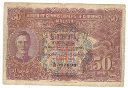 Malaya 50 Cents 1941, F.  Free Ship. To U.S.A. - Malaysia