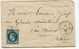 DEUX SEVRES De MELLE SUR BERONNE GC 2305 Sur N°29 Sur Env. Du 30/09/1868 - 1849-1876: Periodo Clásico