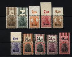 Etappe West,Nr-1-10,mit Oberrand,xx,Mi.ca 209,- - Besetzungen 1914-18