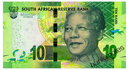 SOUTH AFRICA 10 RAND ND(2015) Pick 138b Unc - South Africa