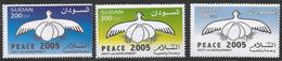 2005 Sudan Peace Eggs Complete Set Of 3 Stamps MNH - Sudan (1954-...)