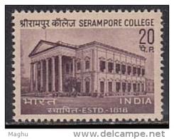 India MNH 1969  Serampore College - Inde