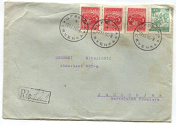 YUGOSLAVIA - REGISTERED LETTER 1950. Seal CRVENKA To BARANYA - Covers & Documents