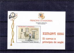 Andorre Espagnol - Bloc Europa  De 1990 ** - MNH - âne - Timbre Poste Tarif Local
