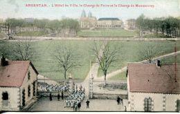 N°47849 -cpa Argentan -le Champ De Manoeuvre- - Casernes