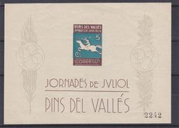 Andorre Espagnol - Bloc Spécial ** - MNH - Chevaux - épées - Tirage Limité