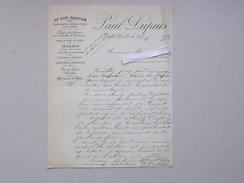 NUITS-St-GEORGES (21): Facture 1893  AU BON MARCHE Confection Châle Soierie Toîle Parapluie Dame Homme - DUPUIS - France