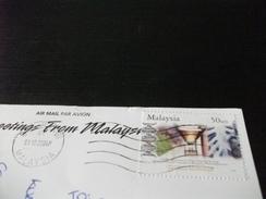 STORIA POSTALE FRANCOBOLLO COMMEMORATIVO MALESIA MALAYSIA GREETINGS FROM KUALA LUMPUR - Malesia