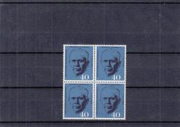 République Fédérale - Yvert  217 ** - MNH - Bloc De 4 - G. Marshall - Valeur 14 Euros