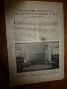 1917 LSELV  :Un Dispositif Pour Prévenir Les Accidents De CHEMINS DE FER  ( Par Sidney Clavarett , British Engineer) - Railway
