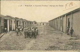 AK Willich Schiefbahn, Caserne Fresnoy, Garage Des Tanks, O 1924, Eckknick Oben Links (11223) - Willich