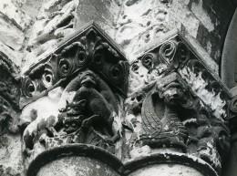 France Poitiers Eglise Notre Dame La Grande Detail Ancienne Photo 1960 - Places