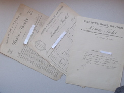 LAPERRIERE (21): Lot 3 Facture Différente 1892 à 1901 Moulin à Cylindre - MITAINE VACHET GUERITEY - Farine Son - LOSNE - France