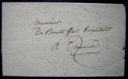 1812 Marque 45/ AIGUILLON Sur Une Lettre Pour Tonneins (Lot Et Garonne) - Postmark Collection (Covers)