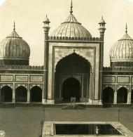 Inde Delhi Mosquée Jama Masjid Façade Ancienne Stereo Photo Kurt Boeck 1906