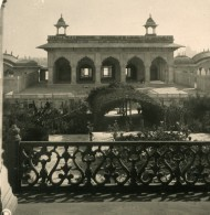 Inde Agra Piscine Des Dames Ancienne Stereo Photo Kurt Boeck 1906