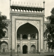 Inde Agra Entrée Du Taj Mahal Ancienne Stereo Photo Kurt Boeck 1906