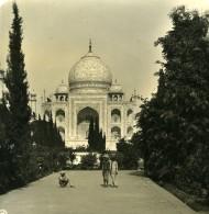 Inde Agra Jardins Du Taj Mahal Ancienne Stereo Photo Kurt Boeck 1906