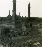 Inde Lucknow Mosquée Bara Imambara Ancienne Stereo Photo Kurt Boeck 1906