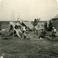Inde Allahabad Campement De Pélerins Ancienne Stereo Photo Kurt Boeck 1906