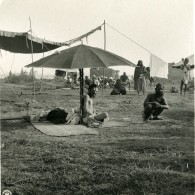 Inde Allahabad Sadhu Penitent Sous Un Parasol Ancienne Stereo Photo Kurt Boeck 1906