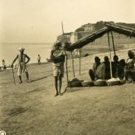 Inde Allahabad Négociants En Grains Cereales Ancienne Stereo Photo Kurt Boeck 1906