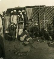 Inde Allahabad Sadhu Penitents Ancienne Stereo Photo Kurt Boeck 1906
