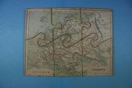 Très Ancien Puzzle De L'Europe En Bois (6 Pièces) - Puzzles