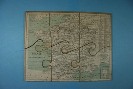 Très Ancien Puzzle De La France En Bois (7 Pièces) - Puzzle Games