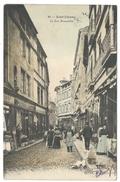 SAINT-ÉTIENNE (42, Loire) La Rue Roannelle - Belle Animation - Commerces - Colorisée - Saint Etienne