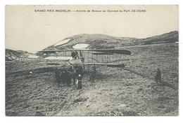 Grand Prix MICHELIN D'Aviation 1911 - Arrivée De RENAUX (vainqueur Du Prix) Au Sommet Du Puy De Dôme - Biplan Farmer - Meetings