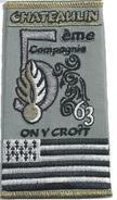 Gendarmerie FOURREAU 63° Promotion CHATEAULIN - Patches
